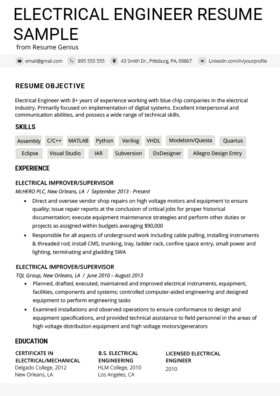 Civil Engineering Resume Example Writing Guide