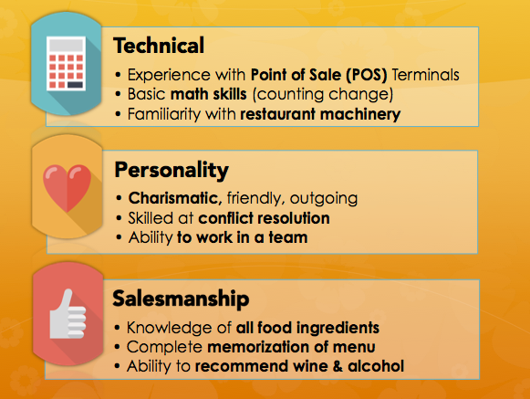 Server Resume Job Responsibilities Best Traits  Traits To Put On A Resume