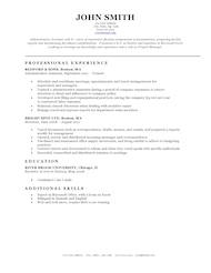 Resume Template Bu0026W Classic Within Template Resume Free