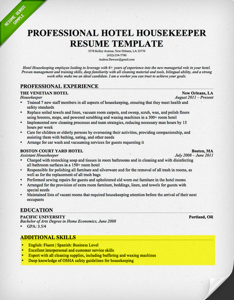 Additional Skills Sample  Skills To Put Down On A Resume