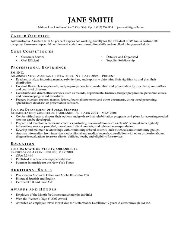 Official Resume Template - Template