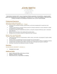 Resume Template Park Burnt Orange