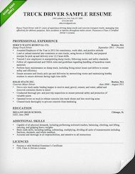 Marvelous Truck Driver Resume Sample Thumb  Sample Truck Driver Resume