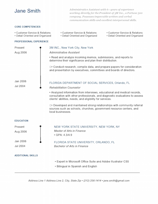 Brooklyn Bridge Blue  Designer Resume