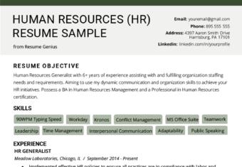 Hr Generalist Cover Letter Sample from resumegenius.com