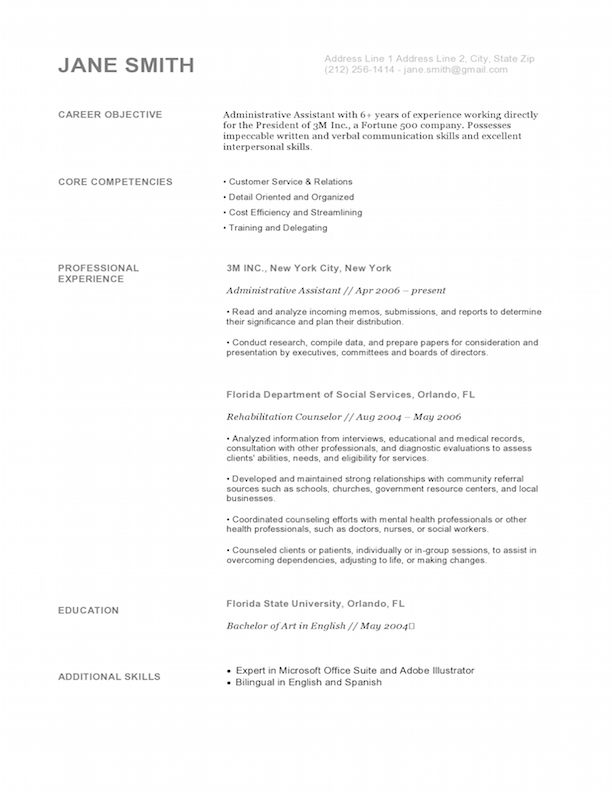 white house gray - Sample Graphic Design Resume