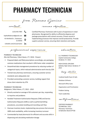 Pharmacist Resume | Pharmacist Resume Sample Writing Tips Resume Genius