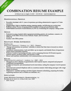 combination resume format example - Chronological Format Resume