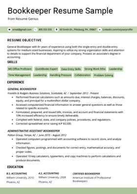 Accountant Resume Sample and Tips | Resume Genius