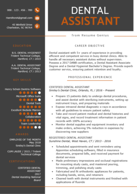 Dental-istant-Resume-Example-Template-280x396 Template Cover Letter Graduate on graduate letter of recommendation template, graduate admissions essay template, graduate personal statement template, graduate letter of intent template, graduate curriculum vitae template, graduate nurse cover letter, graduate statement of purpose template, graduate student cv template,