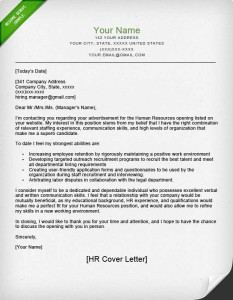 Human resources hr resume sample writing tips for Who do you direct a cover letter to