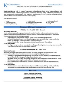 able resume templates  resume genius blue executive resume template