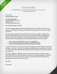 Dublin Green Cover Letter Template  Sample Cover Letters For Resume