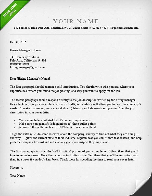 Proper Resume Cover Letter Format  Resume Format And Resume Maker