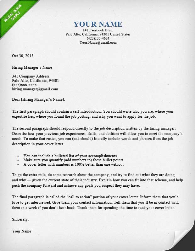 40 battle tested cover letter templates for ms word for How to structure a covering letter