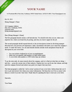 Downloadable Cover Letter Examples And Samples
