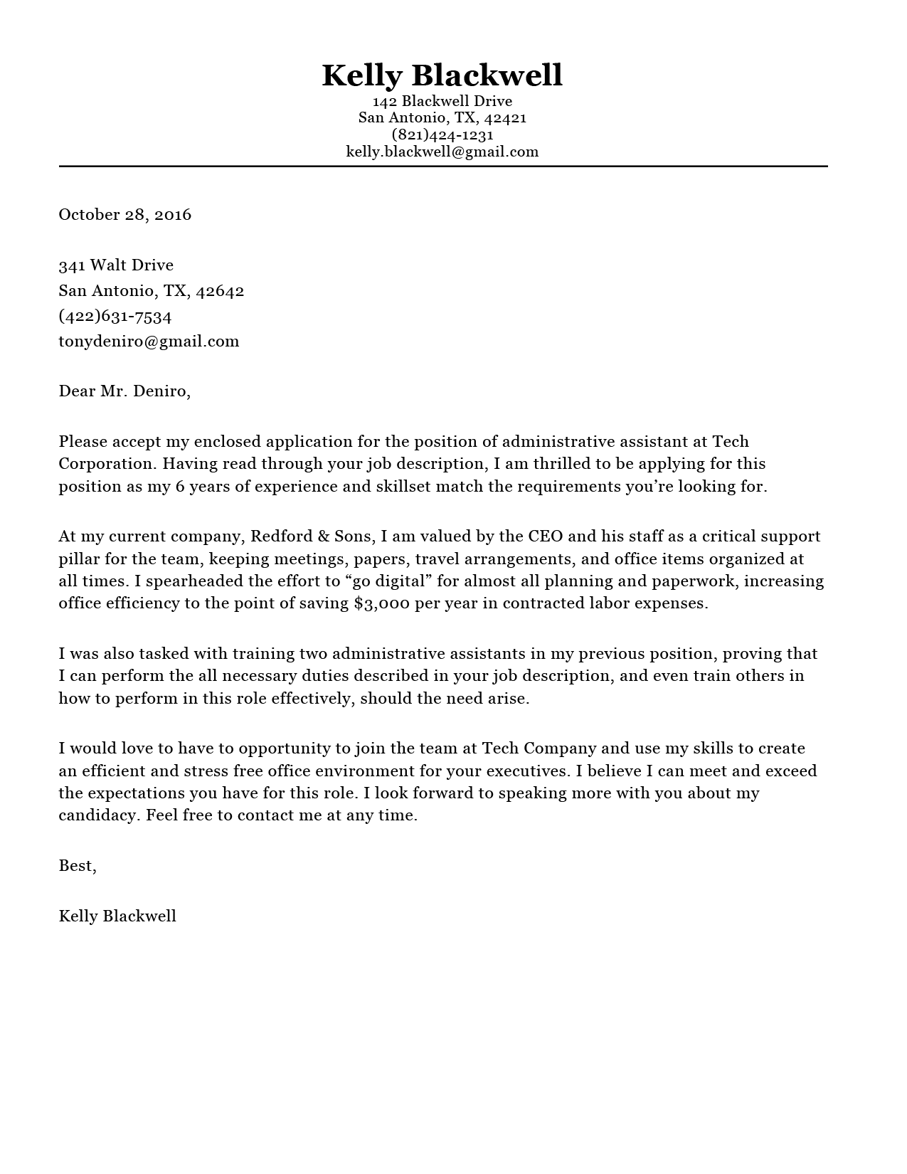 Classic Cover Letter Template  How To Make Cover Letter