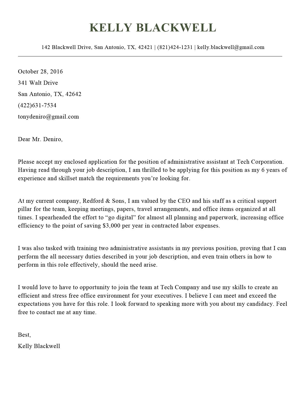 cover letter format online