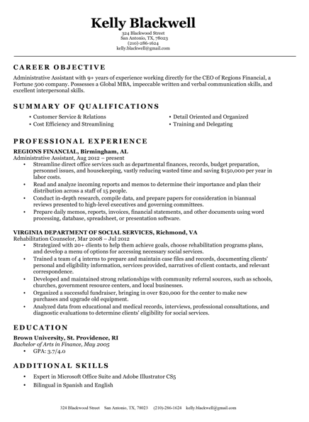 Attractive Classic Resume Template