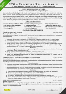 sample executive resume for a CTO