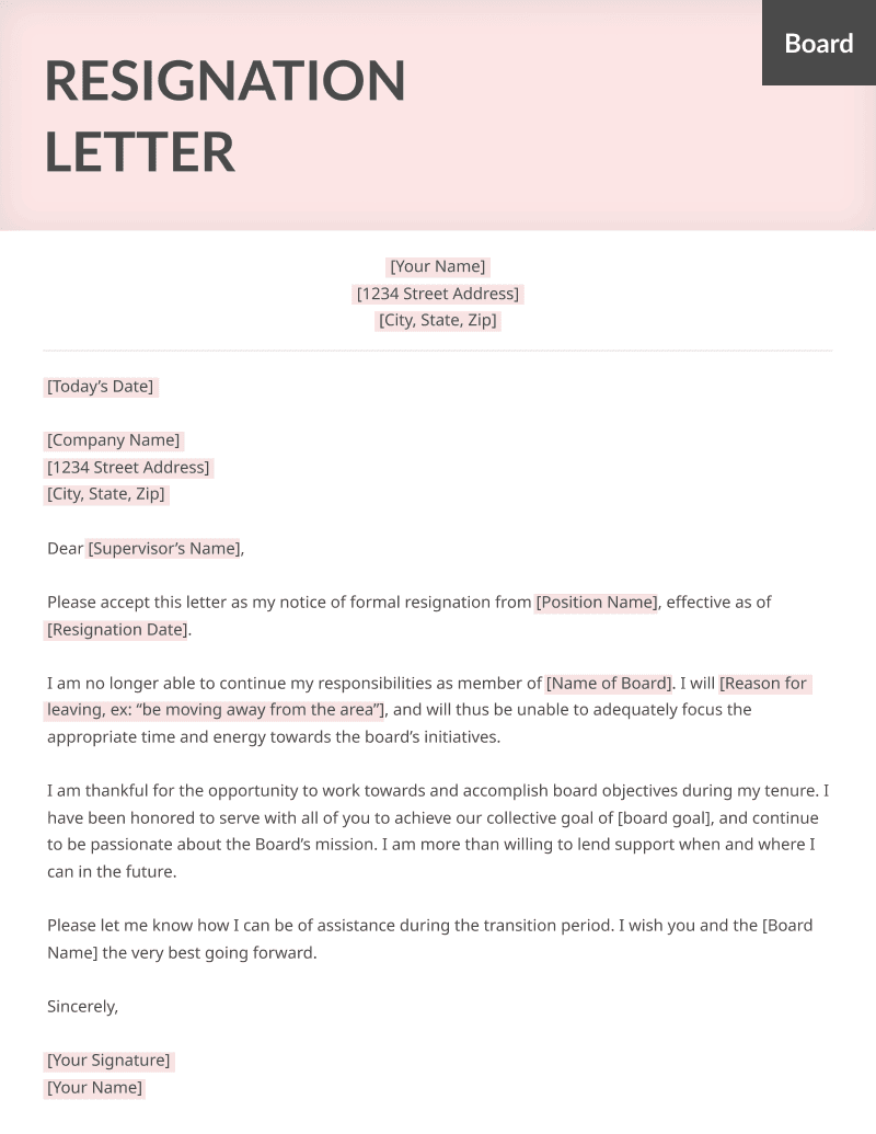 Registered Nurse Resignation Letter from resumegenius.com