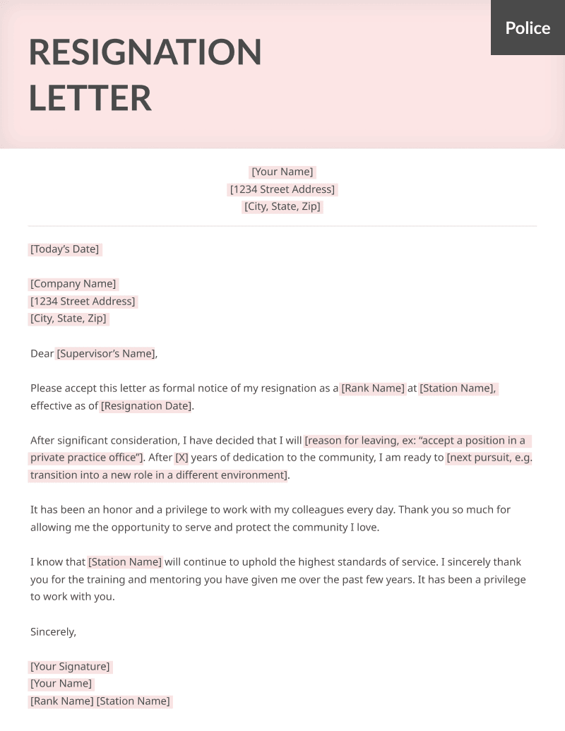 Appreciative Resignation Letter Template from resumegenius.com