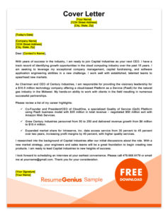 a cover letter business letter sample