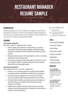 Retail Manager Resume Example Writing Tips
