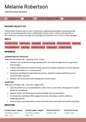 Rose Pink Advanced Resume Template