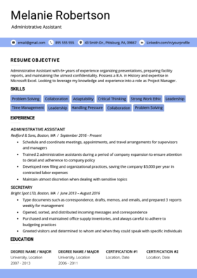 indigo advanced resume template