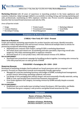 Dark Blue C-Suite Resume Template