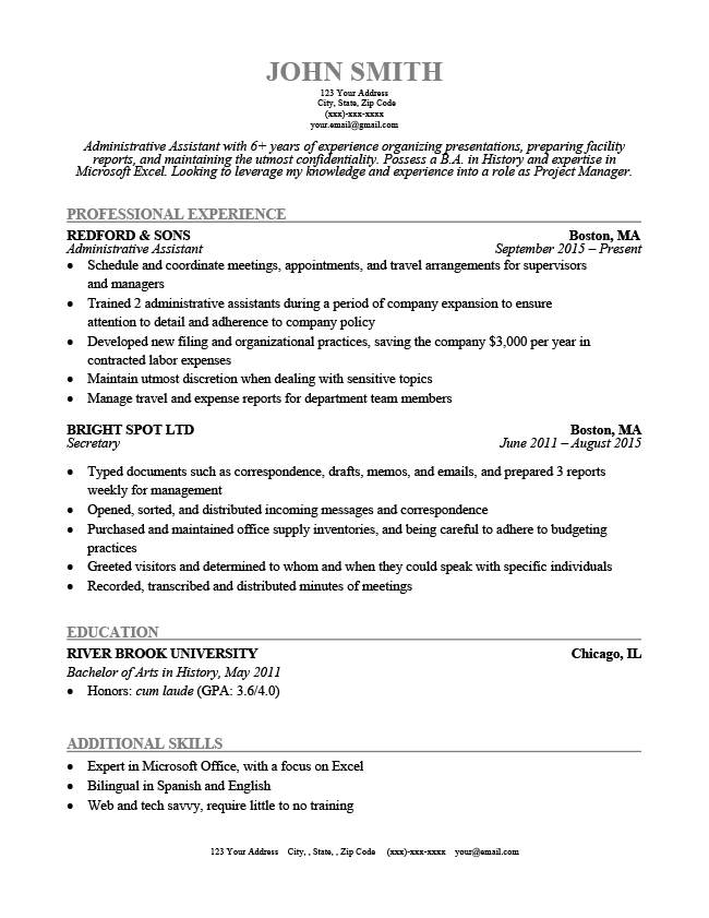 basic simple resume template
