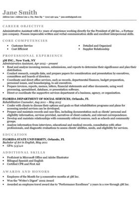 Blank Functional Resume Template Resume
