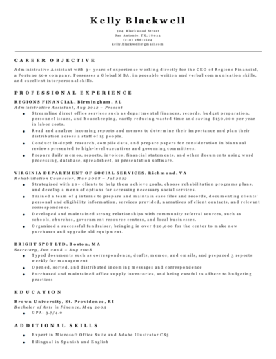 black and white classic resume builder template