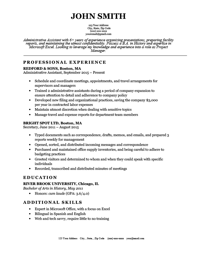 Basic And Simple Resume Templates Free Download Resume Genius