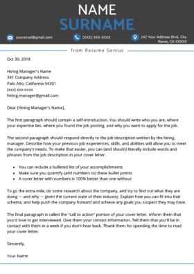 everest blue cover letter template design