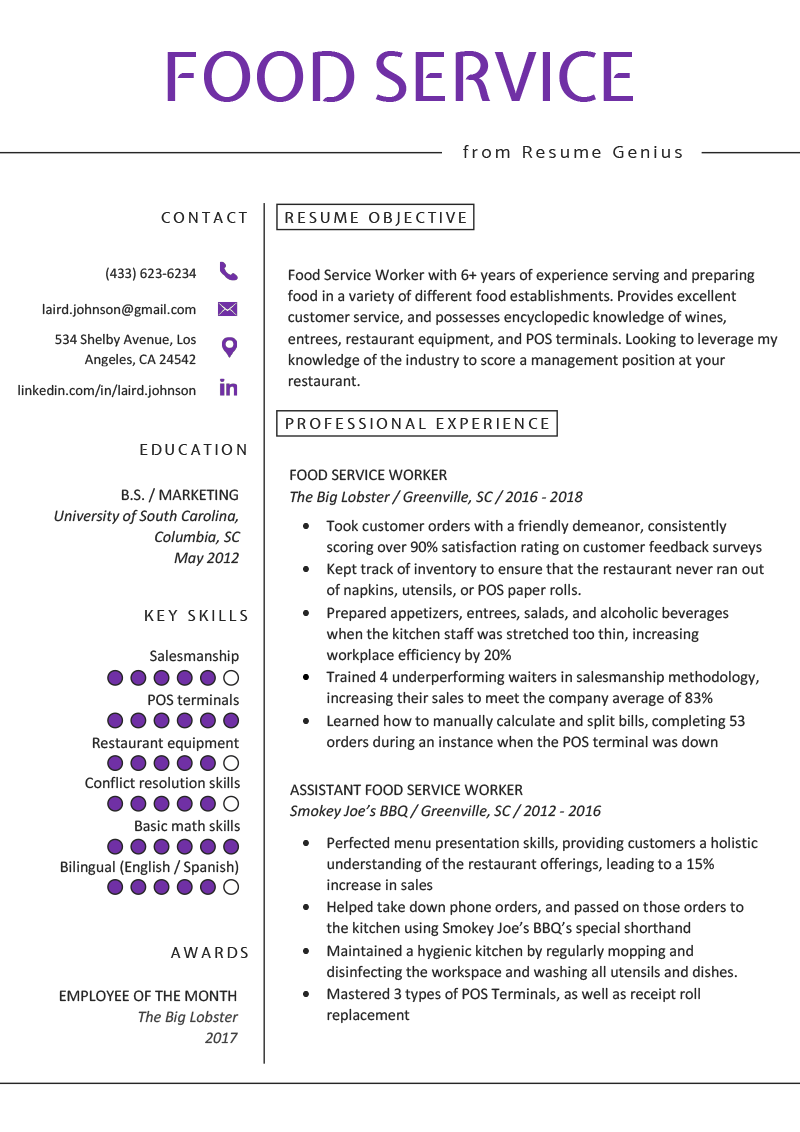 Line Cook Resume Example Template Open Gallery