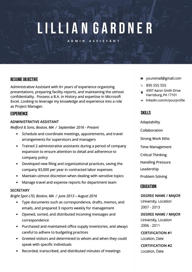 40  modern resume templates