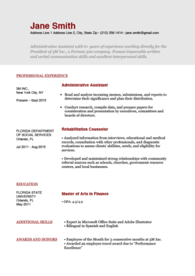 Free Resume Templates | Download for Word | Resume Genius