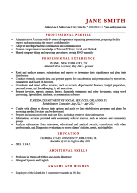 Red Murray Resume Template