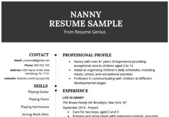 Nanny Cover Letter Sample Writing Tips Resume Genius