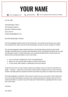 120+ Free Cover Letter Templates | MS Word Download | Resume ...