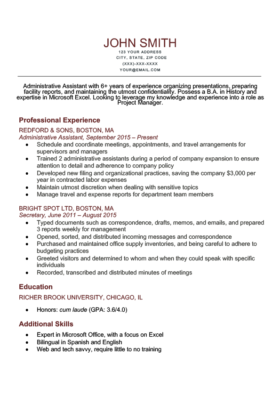 Brick Red Park Resume Template