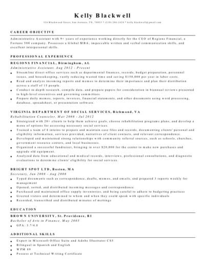 Black Professional Resume Creator Template