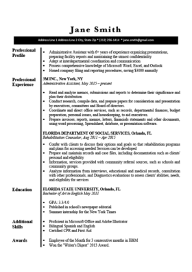 Black and White Stonehenge Resume Template
