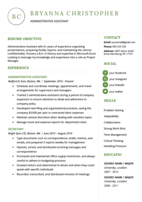 Green Unique Resume Template