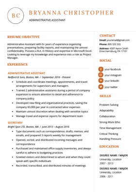 40 Modern Resume Templates Free To Download Resume Genius