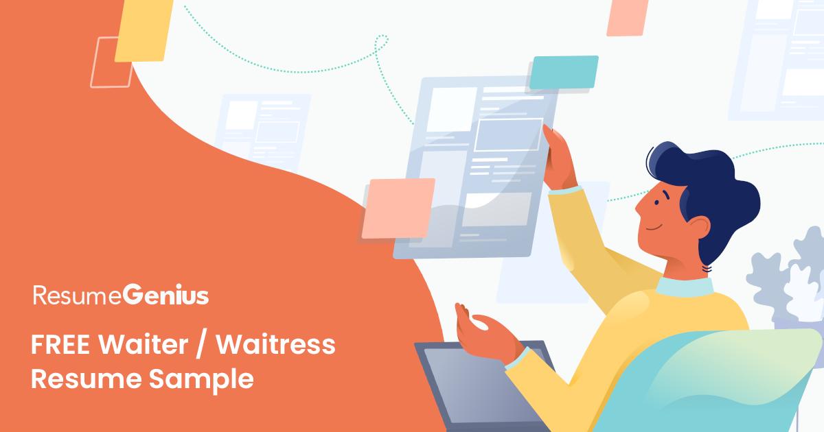 Waiter / Waitress Resume Example & Writing Tips   Resume Genius