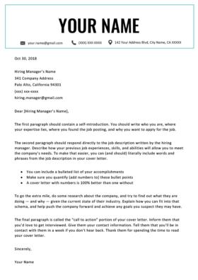 westminster aqua cover letter template design