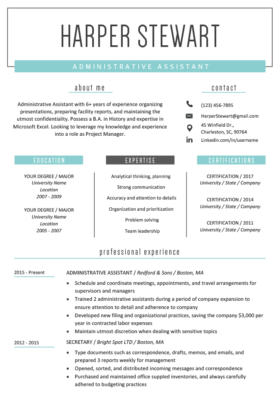Original Windsor Resume Template